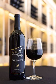 Picture of a bottle and glass of Tap Dance
