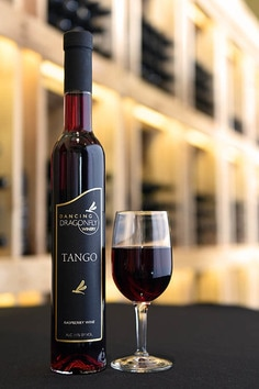 Picture of a bottle and a glass of Tango
